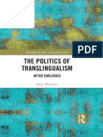 The Politics of Translingualism. Preview