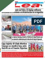 Periódico Lea Viernes 27 de Julio Del 2018