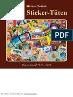Panini Sticker Tüten Katalog