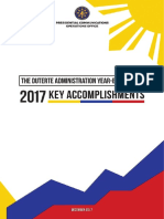 The Duterte Administration Year-End Report 2017 Key Accomplishments