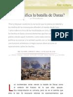 ¿Qué significa la batalla de Daraa?, por Thierry Meyssan