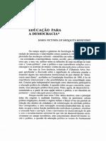 BENEVIDES, Maria Victoria - Educação Para a Democracia.pdf