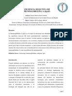 DEFICIENCIA SELECTIVA DE INMUNOGLOBULINA  (IgAD) - REVISION BIBLIOGRAFICA
