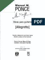 Allegretto- Manuel M. Ponce