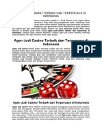 Agen Judi Casino Terbaik Dan Terpercaya Di Indonesia