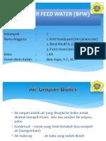 Boiler Feed Water (Bfw)