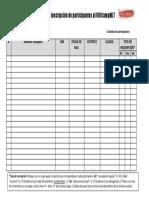 Formato de inscripción de participantes al VIIICampMLT