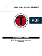 physical science unit plan