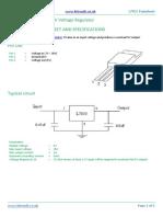 L7805 5V Voltage Regulator Datasheet