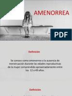 Amenorrea _ Clase UPAO_YULBB