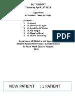 Pagi Klinik RS HAM 12 April 2018