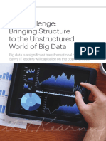 ITs Challenge- Bringing Structure to the Unstructured World of Big Data