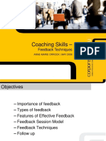 Coaching skills Feedback techniques