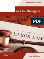 MDP --- Labour Laws for Managers; Sept 2018