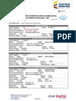 Formulario Solicitud Usuario SER 2018