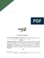 Franchise Agreement for Nextgen Vakrangee Kendra - Logistics