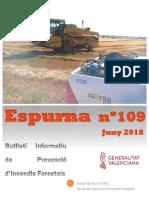 Butlletí informatiu de prevenció d'incendis forestals Espurna juny 2018