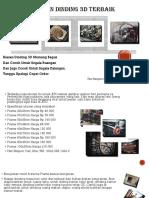 Wow..Hiasan Dinding  3D Menarik TermurahFast Respon Call, Sms, WA