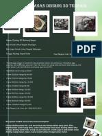 Hiasan Dinding 3D Ruangan Yang Elegan Banget Fast Respon Call, Sms, WA