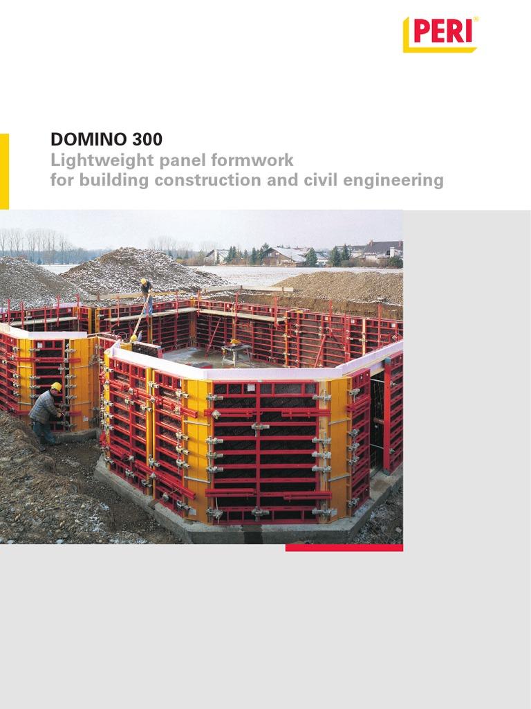 PERI DOMINO 300 pdf | Scaffolding | Structural Engineering