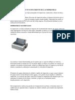Características y Funcionamiento de Las Impresoras