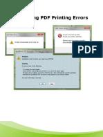 PDF Printer Issues