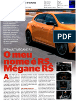 "NOVO RENAULT MÉGANE R.S. NA ""CARROS & MOTORES"""