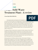 Essay ( Saligao Waste Treatment Project)