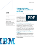 Enterprise Health Analytics for Healthcare Providers