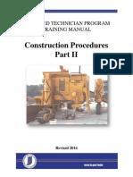 Construction Procedures Part i i