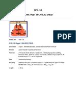 WV-10 Spec