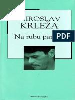 Miroslav Krleža - Na rubu pameti