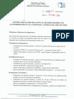 Lettre circulaire relative au réaménagement du calendrier des évaluations de l'année scolaire 2017-2018.pdf