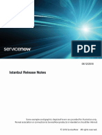 Servicenow Istanbul Release Notes