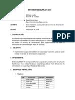 INFORME 002 SUPT-Implementacion de Comedor Caracoles