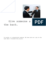 Give Someone a Pat on the Back