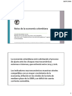 Retos de La Economía Colombiana