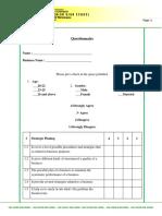 Apgeanris Questionnaire