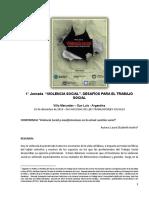 Violencia Social y Manifestaciones en La Actual Cuestión Social_ Acotto_coferencia Villa Mercedes