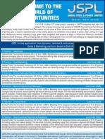 JSPL Recruitment Ad
