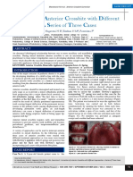 Correction of Anterior Crossbite With Different Approaches- A Series of Three Cases