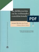 André Rufino Do Vale - La Deliberación en Los Tribunales Constitucionales