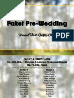 Paket Pre Wedding | TWGC 2018