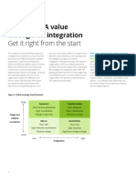 Us Ma Driving m and a Value Through Hr Integration Get It Right From the Start