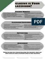 Inclusive Classroom Checklist