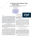 Recognition of Tomato Fruit Maturity Using Fuzzy Logic (Final Draft)