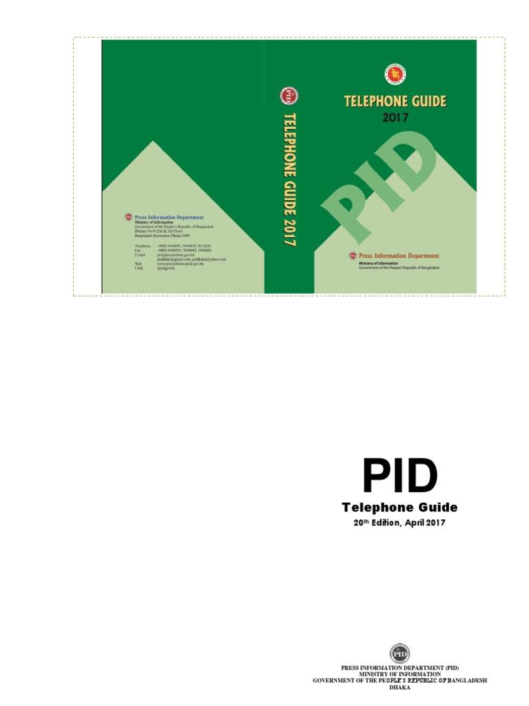 PID Tel Guide_2017 for Web   Bangladesh   Dhaka