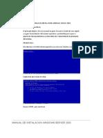 Manual de Instalacion Windows Server 2003