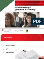 Aplicacion de trabajo en alemania