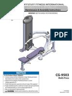 CalGym Multi-Press (CG-9503)Owner's Manual
